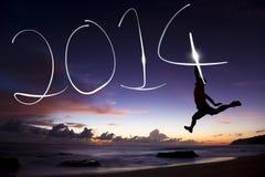 Szczęśliwy nowy rok 2014 Obraz Royalty Free