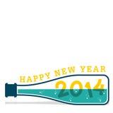 Szczęśliwy nowy rok 2014 Zdjęcie Royalty Free