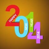 Szczęśliwy nowy rok 2014 Obraz Stock