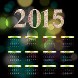 Szczęśliwy nowy rok - 2015 Obrazy Royalty Free