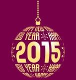 Szczęśliwy nowy rok 2015 Obraz Royalty Free