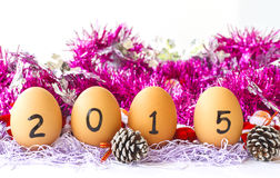 Szczęśliwy nowy rok 2015 Fotografia Royalty Free