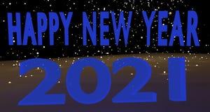 Szczęśliwy nowy rok 2021 Zdjęcie Royalty Free
