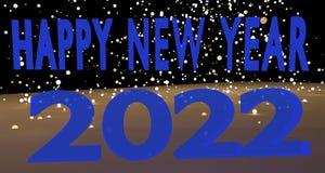 Szczęśliwy nowy rok 2022 Obrazy Royalty Free