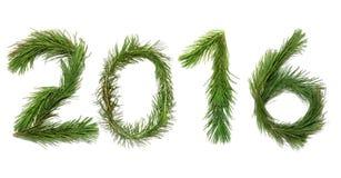 Szczęśliwy nowy, 2016, rok! Fotografia Royalty Free