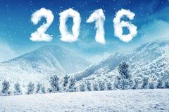 Szczęśliwy nowy rok 2016 Fotografia Royalty Free
