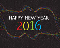 Szczęśliwy nowy rok 2016 Obrazy Stock