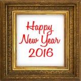 Szczęśliwy nowy rok 2016 Obraz Royalty Free