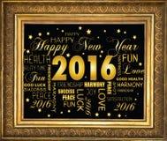 Szczęśliwy nowy rok 2016 - Obrazy Royalty Free