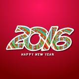 2016, szczęśliwy nowy rok Zdjęcie Stock