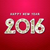 2016, szczęśliwy nowy rok Zdjęcie Royalty Free