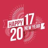 Szczęśliwy nowy rok 2017 Obrazy Stock