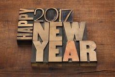 Szczęśliwy nowy rok 2017 Zdjęcie Royalty Free