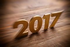 Szczęśliwy nowy rok 2017 Fotografia Royalty Free