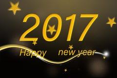 Szczęśliwy nowy rok 2017 Obraz Royalty Free