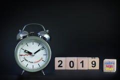 Szczęśliwy nowy rok 2019 Obrazy Royalty Free