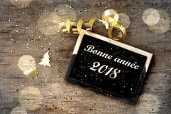 Szczęśliwy nowy rok 2018 Zdjęcie Royalty Free