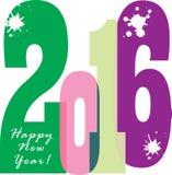 Szczęśliwy nowy rok broszurki 2016 sztandar Fotografia Stock