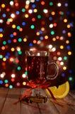 Szczęśliwy nowy rok 2018, czerwień rozmyślał wino Obraz Stock