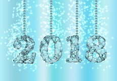 Szczęśliwy nowy rok 2018, 3D rendering Zdjęcie Royalty Free