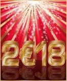 Szczęśliwy Nowy 2018 rok euro złoty sztandar Obraz Royalty Free