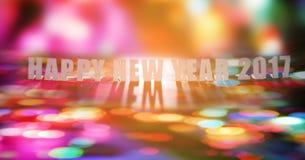 Szczęśliwy nowy rok 2017 handmade dicut słowo na papierze Zdjęcie Royalty Free