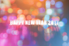 Szczęśliwy nowy rok 2017 handmade dicut słowo na papierze Zdjęcia Stock