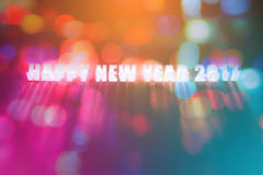 Szczęśliwy nowy rok 2017 handmade dicut słowo na papierze Obraz Stock