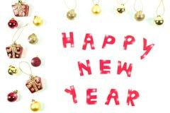 Szczęśliwy nowy rok i meblowania Fotografia Stock
