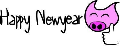 Szczęśliwy nowy rok i pic kreskówka ilustracji