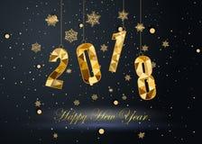 Szczęśliwy nowy rok 2018 i Wesoło boże narodzenia Fotografia Stock