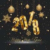Szczęśliwy nowy rok 2018 i Wesoło boże narodzenia Obraz Stock