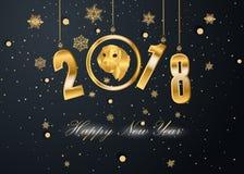 Szczęśliwy nowy rok 2018 i Wesoło boże narodzenia Zdjęcie Royalty Free