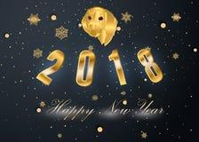 Szczęśliwy nowy rok 2018 i Wesoło boże narodzenia Obrazy Stock