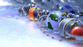 Szczęśliwy Nowy Rok i Wesoło Boże Narodzenia obrazy royalty free