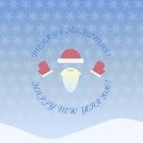 Szczęśliwy nowy rok i wesoło bożych narodzeń wzór Zdjęcie Stock