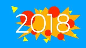 Szczęśliwy nowy rok 2018 infographic Zdjęcie Stock