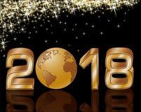 Szczęśliwy Nowy 2018 rok kartka z pozdrowieniami, wektor Obrazy Stock