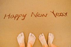 Szczęśliwy nowy rok kochankowie zdjęcie royalty free