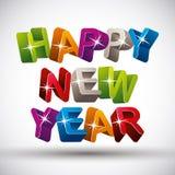 Szczęśliwy nowy rok, kolor wersja Zdjęcie Stock