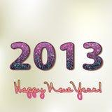 Szczęśliwy nowy rok 2013, kolorowy projekt. + EPS8 Zdjęcia Stock