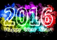 Szczęśliwy nowy rok - 2016 kolorowych przesłanek Fotografia Stock