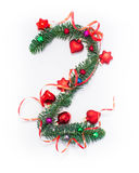 Szczęśliwy nowy rok liczba 2 napisze Zdjęcia Stock