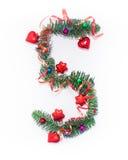 Szczęśliwy nowy rok liczba 5 napisze Zdjęcia Stock