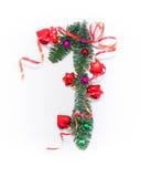 Szczęśliwy nowy rok liczba 1 napisze Zdjęcie Stock