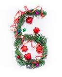 Szczęśliwy nowy rok liczba 6 napisze Obraz Royalty Free
