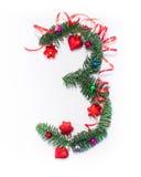 Szczęśliwy nowy rok liczba 3 napisze Zdjęcia Stock