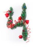 Szczęśliwy nowy rok liczba 4 napisze Zdjęcie Stock