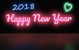 Szczęśliwy nowy rok 2018 - miłość Fotografia Royalty Free