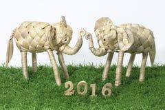 Szczęśliwy nowy rok 2016 na białym tła pojęciu Fotografia Royalty Free